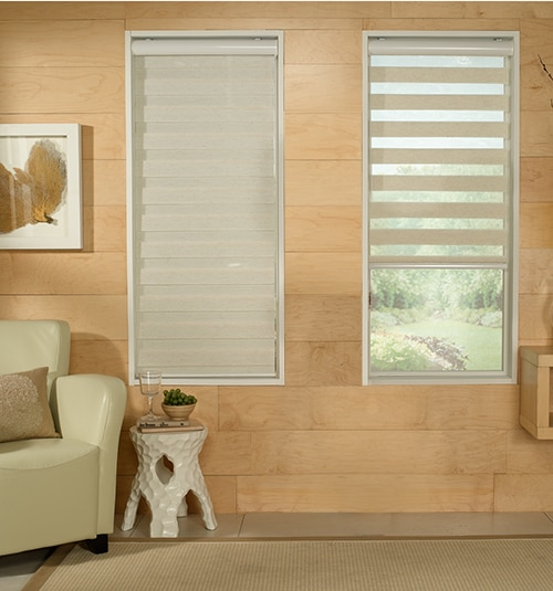 Star Blinds Banded Sheer Shade