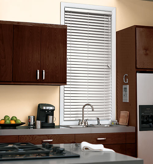 "2"" Vinyl Blinds shown in color White"