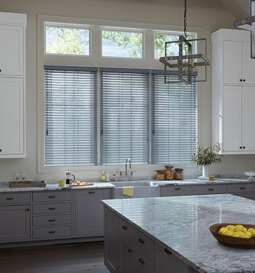 "Levolor 2"" Premium Wood Blind shown in Hickory"
