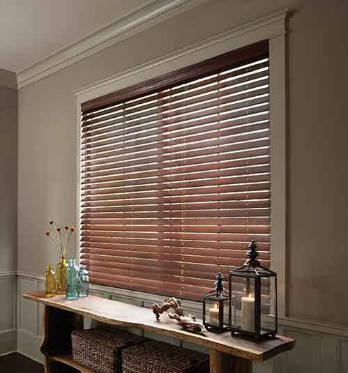 "2 1/2"" Premium Wood Blinds shown in White White"