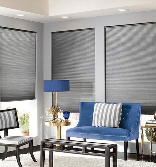 Cordless Blackout Cellular Shades shown in Chocolate