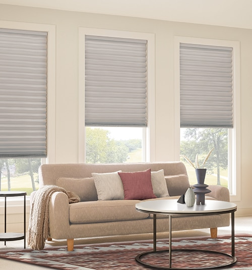 Cordless Pleated Shades shown in color Milk