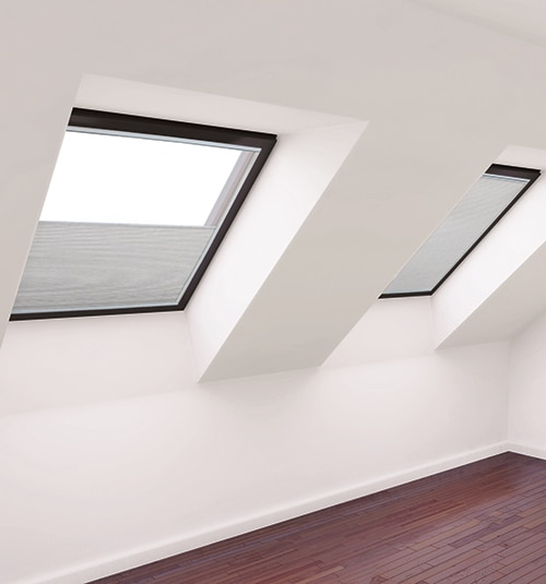 Motorized Skylight Shade Light Filtering shown in color White