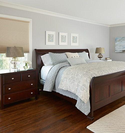 Levolor Room Darkening Cellular Shades shown in Mink