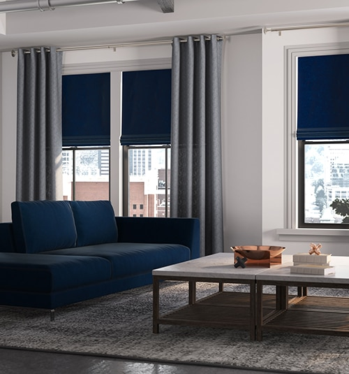 Star Blinds Solid Roman Shades