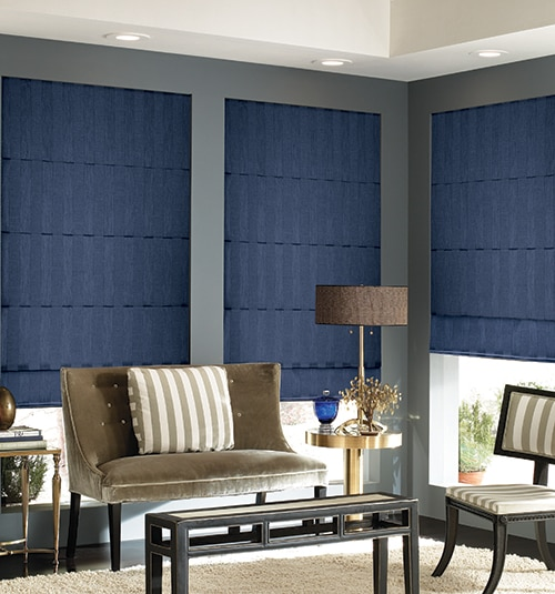 Star Blinds Stripe Roman Shades