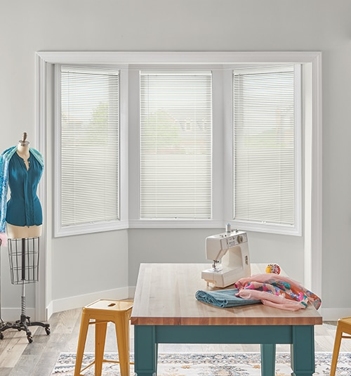 "Lightblocker 1/2"" mini blind shown in color Beige"
