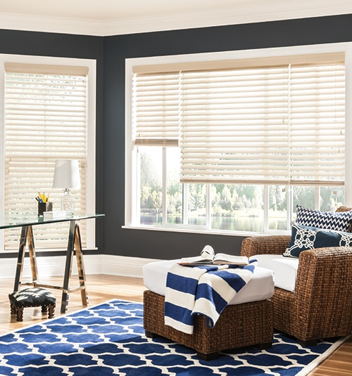 "Bali® Wood Images 2"" Composite Wood Blinds shown in Heirloom"