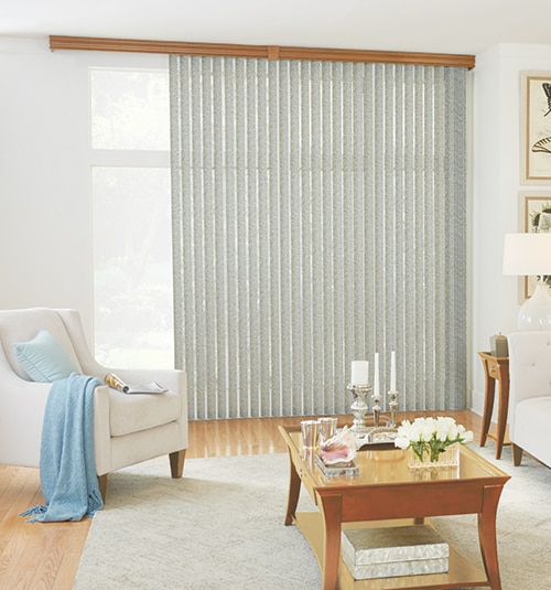 Bali® Fabric Vertical Blind: Linen Walnut